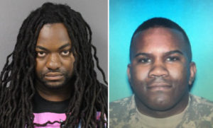 Mycol Beckett (left) is accused of killing Eric Rue (right)