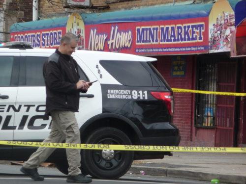 A woman was gunned down in the 800 block of Stuyvesant Avenue Tuesday, November 27, 2018. (Sulaiman Abdur-Rahman - Trentonian)